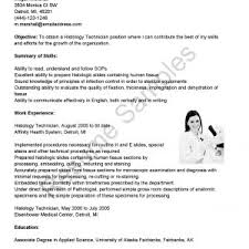 Resume Objective Receptionist Cover Letter Veterinary Resume Examples Veterinary Technician