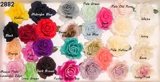 different color roses silk hat trim 28 color choices that way hat new