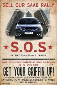 s o s sell our saab rally poster