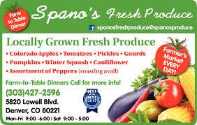 Farm To Table Denver by Locally Grown Fresh Produce Spano U0027s Denver Co