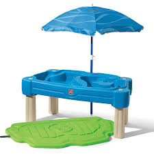 step 2 water table with umbrella step2 naturally playful sand and water activity table value bundle