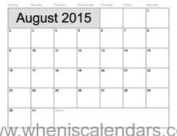 august 2015 calendar printable template 10 templates