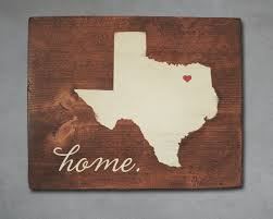 Rustic Texas Home Decor Texas State Wood Art Personalized Home Decor Wall Art