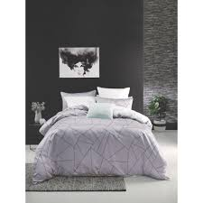 mod by linen house angle quilt cover set