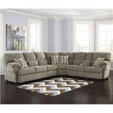 Reclining Sectional Sofa Comfort Commandor Mocha Sectional W Power Reclining Loveseat