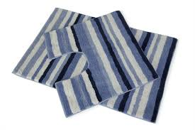 Bathroom Mats Set by Stripey 2 Piece Blue Navy White Bath Mat U0026 Pedestal Toilet Rug 100