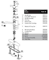 glacier bay kitchen faucet diagram gerber 40 150 kitchen faucet parts