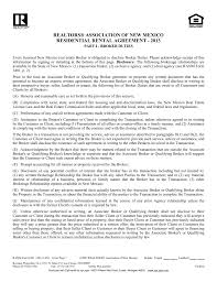 free new mexico standard residential lease agreement template