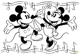 baby mickey and minnie mouse coloring pages birthday wedding