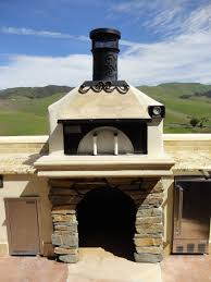 custom outdoor pizza oven with earth stone model 60 pizza oven kit