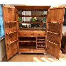 Vanguard Bar Cabinet Customized Mexican Pine Cantina Dry Bar Cabinet Chairish