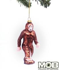 bigfoot sasquatch glass ornament middle of beyond