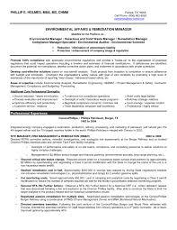 resume sle formats gallery of waste management resume sle regulatory compliance