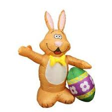 Easter Bunny Yard Decorations by Giant Jumbo Inflate Inflatable Easter Bunny Rabbit