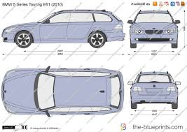 the blueprints com vector drawing bmw 5 series touring e61