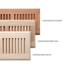 roundover unfinished wood floor grille hardware