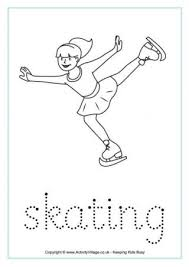winter olympics handwriting worksheets