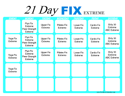 21 day fix extreme workout calendar print a workout calendar