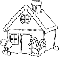 any gingerbreadhouse coloring page wecoloringpage