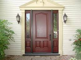 Front Entryway Doors Front Entry Doors With Sidelights With Glass Fiberglass For