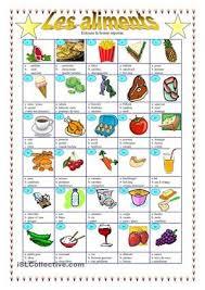 les aliments vocabulaire les aliments aliment et