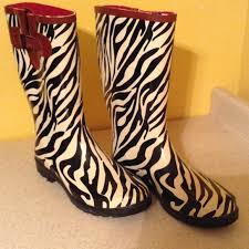 womens zebra boots creek zebra boots size 10 euc from s