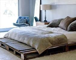 diy recycled pallet bed frame ideas with pallets