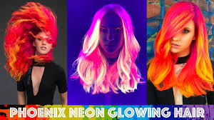 phoenix neon glowing hair youtube