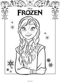 anna frozen movie coloring free printable coloring