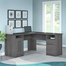 l shaped desk bush series c l shaped desk bundle w hutch t shaped