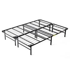 intellibase lightweight easy set up bi fold platform metal bed