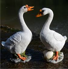 resin lifelike goose statue garden ornament