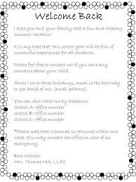 open house welcome back letter from the counselor the