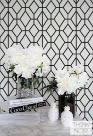 Wallpaper For Bedroom Walls Black And White Geometric Wallpaper Geometric Pattern Removable