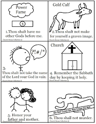 ten commandments coloring pages mini book