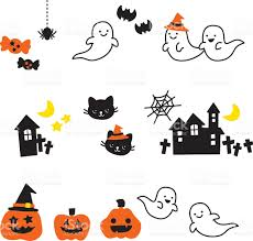 free halloween icon cute halloween icons ghost cat pumpkin candy grave yard stock