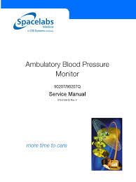 spacelabs 90207 ambulatory blood pressure monitor service manual