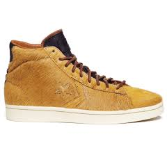 pony hair bodega x converse string pro leather pony hair mid ride or