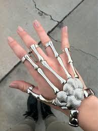 skull hand bracelet images Jewels fashion jewelry ring bracelets ring accessory jpg