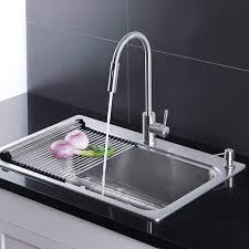 metal kitchen sink and cabinet combo afa stainless single bowl 33 dual mount kitchen sink faucet combo walmart