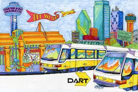 Dallas Dart Train Map by Dart Org Dart News Release