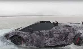 Lamborghini Gallardo Black - lamborghini gallardo performante goes swimming in lake