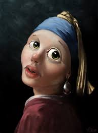 painting girl with a pearl earring girl with a pearl earring by m1rc0 on deviantart