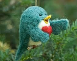 senegal parrot needle felted bird ornament
