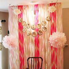 wedding backdrop layout 6pcs crepe paper roll streamers decorative ribbons birthday party
