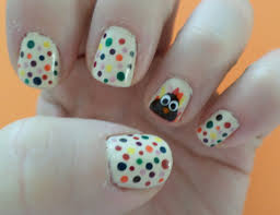 thanksgiving turkey fall nail design tutorial