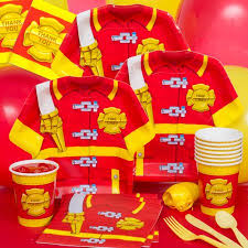 Elmo Party Decorations Walmart Firefighter Basic Party Pack Walmart Com