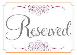 Wedding Signs Template Reserved Cards For Tables Templates Best U0026 Professional Templates