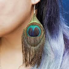 feather earrings single peacock feather earrings to bring change and inspire bold