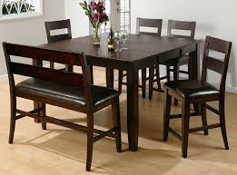 dining tables with benches backs with ideas image 6230 zenboa